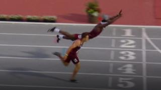 College hurdler Infinite Tucker