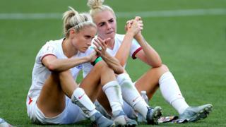 Steph Houghton reacts to defeat