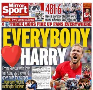 Wednesday's Daily Mirror