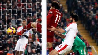 Salah scores Liverpool's third