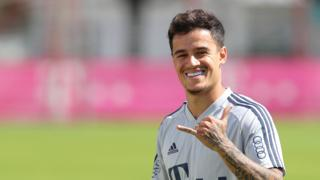Philippe Coutinho smiling
