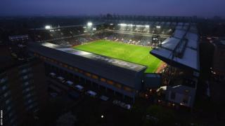 Upton Park by night