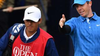 Rory McIlroy and caddie harry Diamond