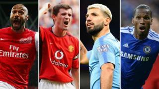 Thierry Henry, Roy Keane, Sergio Aguero, Didier Drogba
