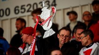 FA Cup tin foil trophy