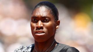 South African athlete Caster Semenya