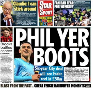 Thursday's Daily Star back page