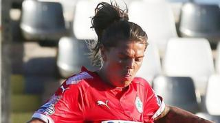 Billie Simpson struck her goal for Cliftonville Ladies against Sion Swifts last August