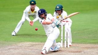 Laura Marsh in action for England