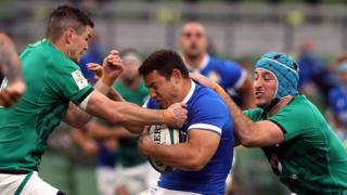 Ireland tackle Italy