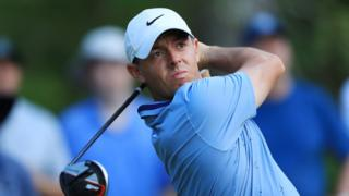 Rory McIlroy hits a drive during round two of the Players Championship at Sawgrass