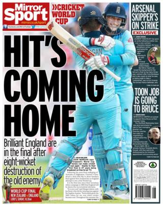 Back page of the Mirror