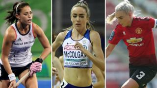 Sam Quek, Eilish McColgan and Alex Greenwood