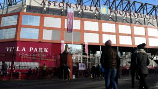 Outside Villa Park
