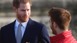 Duke of Sussex speaks with James Simpson