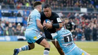 Saracens' Billy Vunipola against Warriors