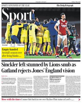 Friday's Daily Telegraph