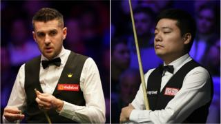 Mark Selby (left) and Ding Junhui