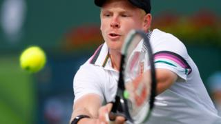 Kyle Edmund in action