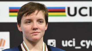 American world champion track cyclist Kelly Catlin