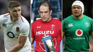 Owen Farrell, Alun Wyn Jones and Rory Best