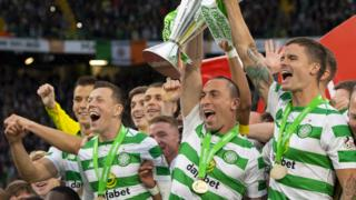 Celtic celebrate eighth Scottish Premiership title in a row