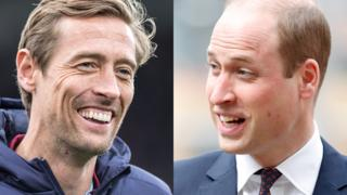 Peter Crouch and Prince William