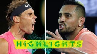 Rafael Nadal and Nick Kyrgios (L-R)
