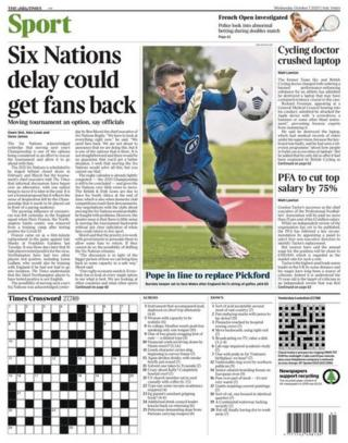 The back page of The Times