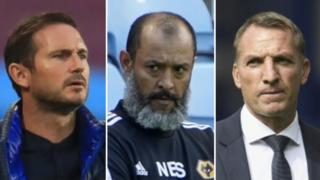 Frank Lampard, Nuno Espirito Santo and Brendan Rodgers