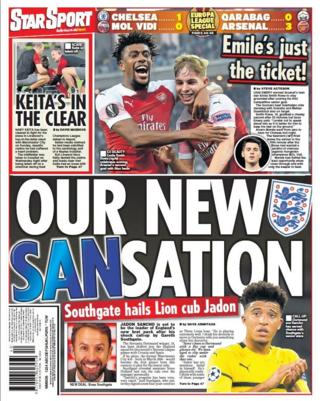 Friday's Star back page