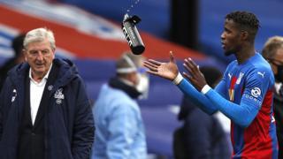 Roy Hodgson and Wilfried Zaha