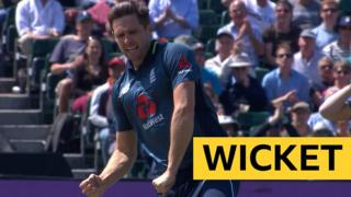 Chris Woakes celebrates