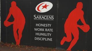 Saracens sign