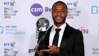 Raheem Sterling and his award