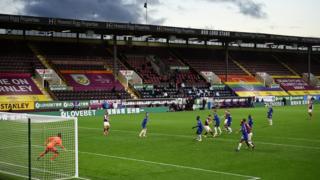 Burnley play Chelsea in the Premier League