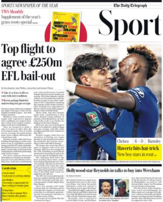 Daily Telegraph main sport page