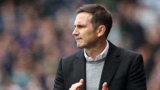 Derby manager Frank Lampard