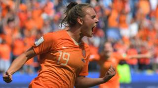 Netherlands' midfielder Jill Roord