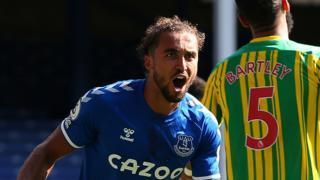 Dominic Calvert-Lewin scores for Everton