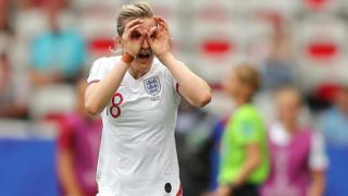 Ellen White celebrates for England
