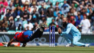 Moeen effects the first run out for England