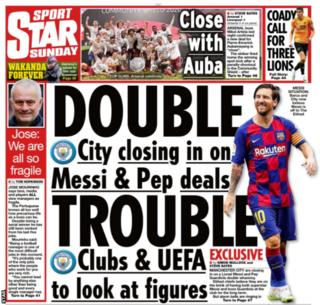 Man united news  football news  football transfer and rumours Sunday Star back page