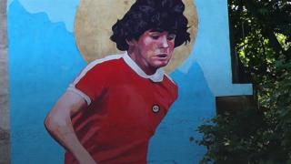 Diego Maradona mural