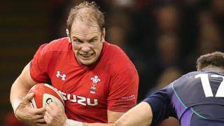 Alun Wyn Jones takes on Scotland in November, 2018