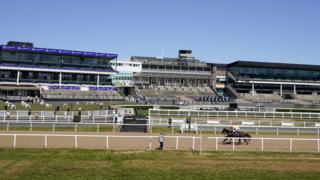 Newcastle Racecourse as horse racing returns in England