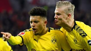 Erling Braut Haaland and Jadon Sancho