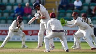 Alastair Cook batting for Essex against Somerset