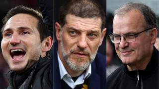 Frank Lampard, Slaven Bilic and Marcelo Bielsa