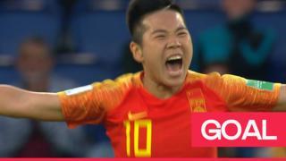 Li Ying celebrates goal